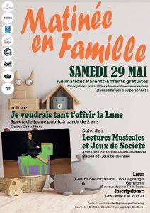Matinée en famille @ Espace Gentiana   Tours   Centre-Val de Loire   France